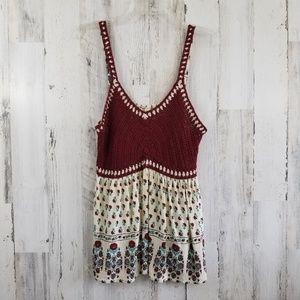 American Rag Boho Crocheted Top